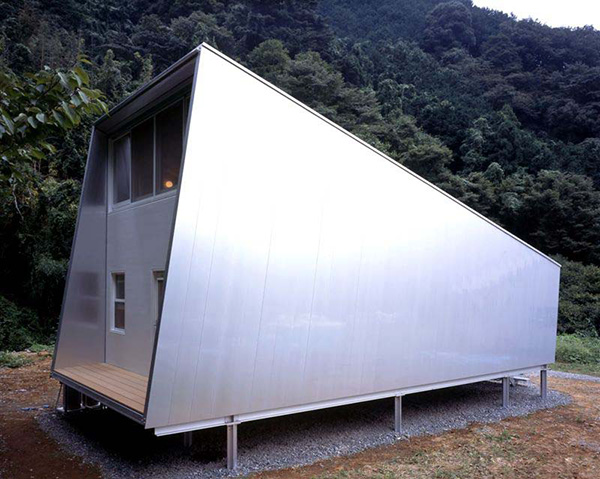 small japanese homes compact cottage 1 Small Home Design Ideas   metal clad house with wood interior
