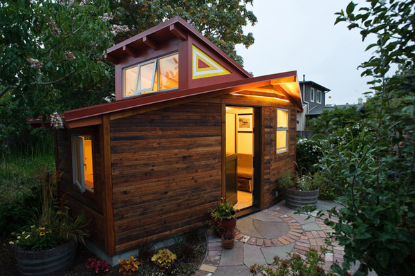 Tiny Home Designs: Small Studio House Plans In California Forest