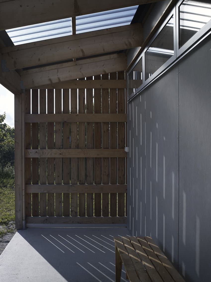Small Swedish House Made From Boards And Corrugated Metal