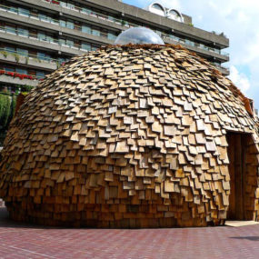 Balsa Wood House – Dome Tea Houses on Display in London