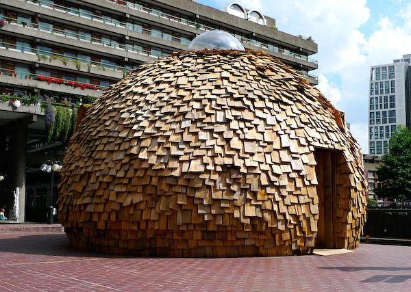 sorry goodbye teahouse 2 Balsa Wood House   Dome Tea Houses on Display in London