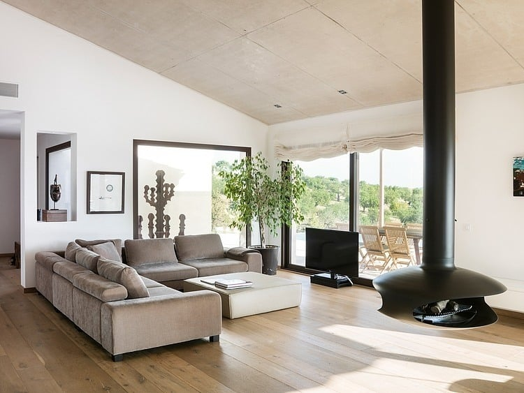 View In Gallery Spanish Family Home With Comfortably Contemporary Open Space .  The Living Room ... Part 40