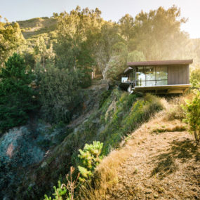 Spectacular Glass and Copper Cliff House in Big Sur, California