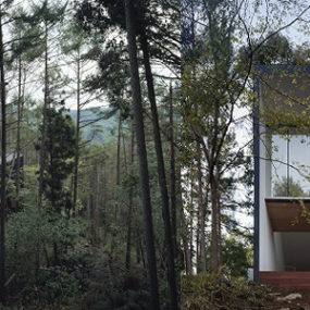 Contemporary Weekend House – Nature-Inspired Japanese Design