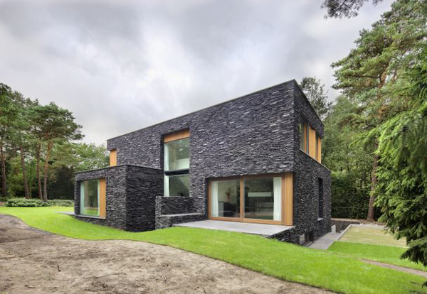 stone home designs netherlands nature house 1 Stone House Siding Blends Beautifully with Nature, in the Netherlands