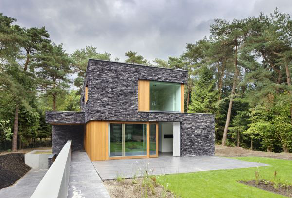Delightful Stone House Siding Blends Beautifully With Nature, In The Netherlands