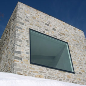 Stone House Fronts – Rustic addition to Swiss mountains