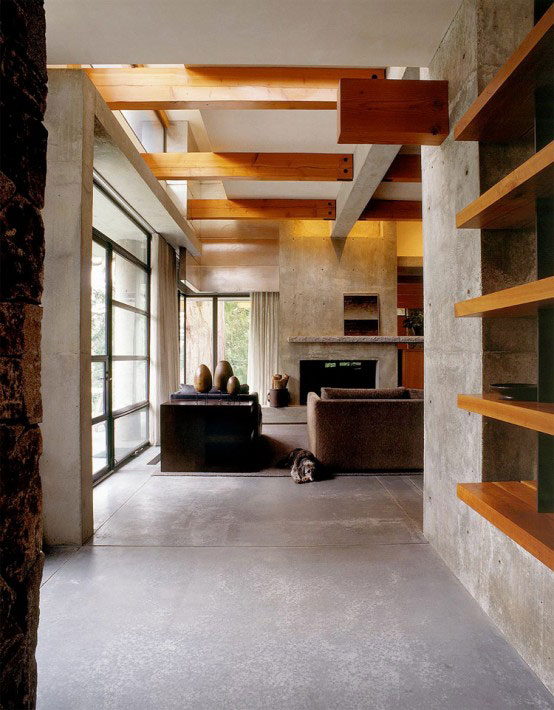 stone house modern and earthy design 4