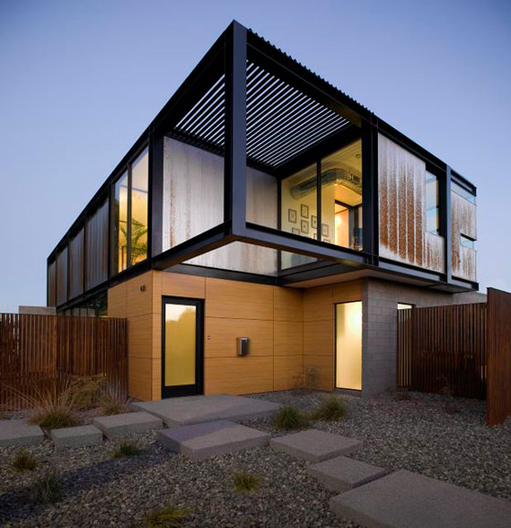 Contemporary house in arizona with industrial chic style Contemporary house style