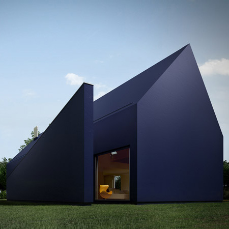 Thermopian House 1 Polish Modern Architecture Plastic House In Lodz, Poland