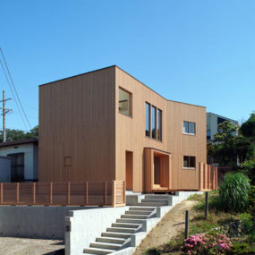 House with Wood Exteriors and Interiors in Japan