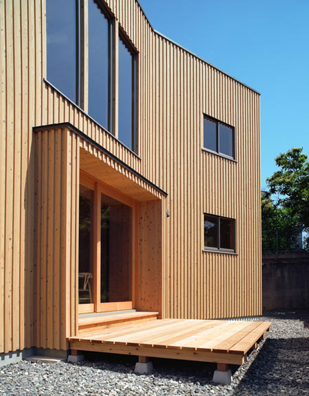 timber home designs curved japanese house 2 House with Wood Exteriors and Interiors in Japan