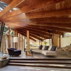 Wood Radius House by Dwyer Design