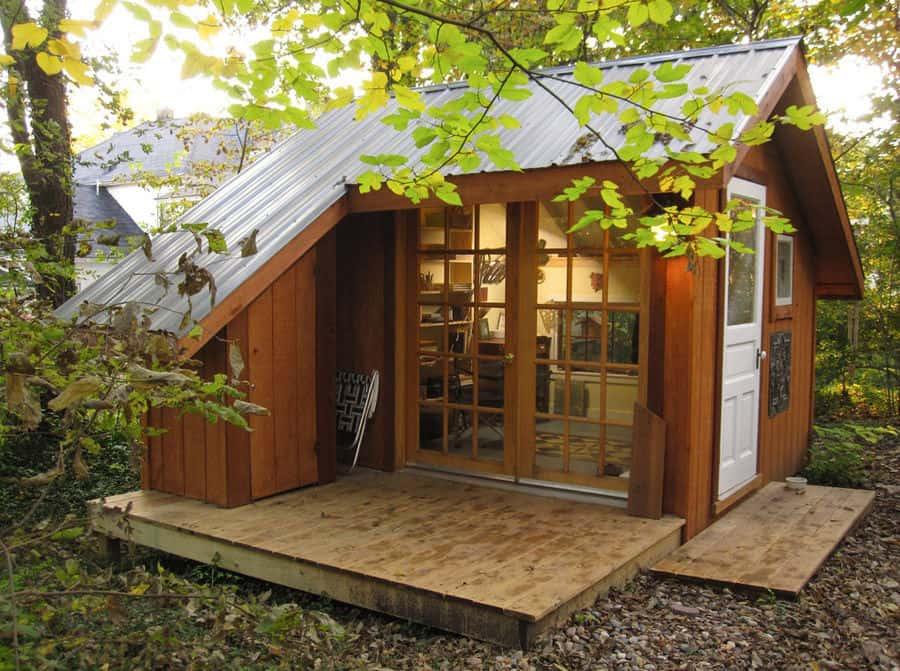 Tiny House - A Backyard Sanctuary in Missouri | Modern ... on Backyard House Ideas id=95545