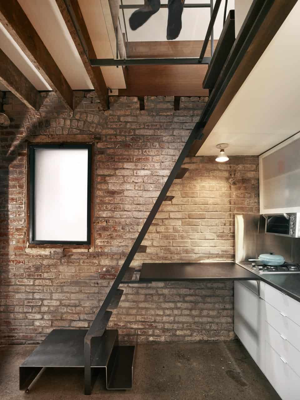 View In Gallery Tiny Industrial Style Guest House Conversion 4