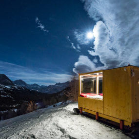 Tiny Starlight Room in the Dolomite Mountains is Heaven on Earth