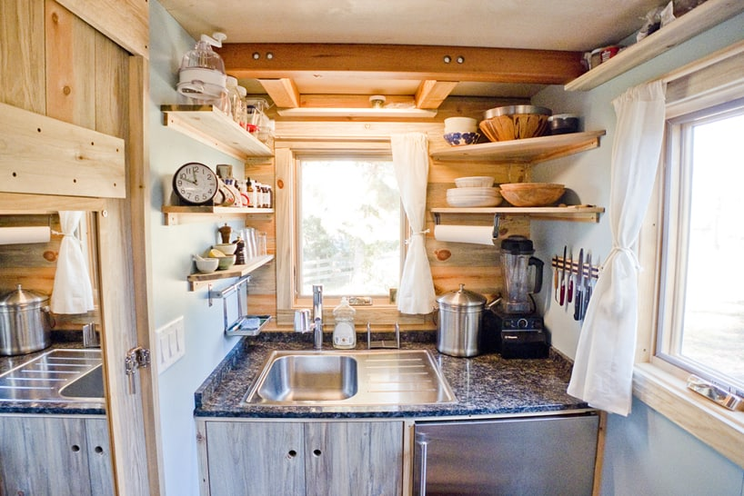view in gallery tiny trailer mounted eco friendly traveling home 7 - Tiny House Trailer Interior