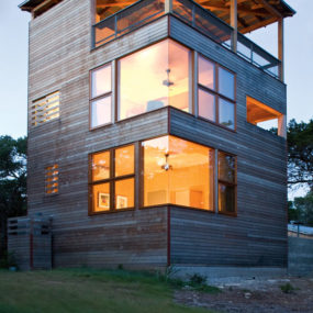 Tower Home Architecture in Wood and Stone