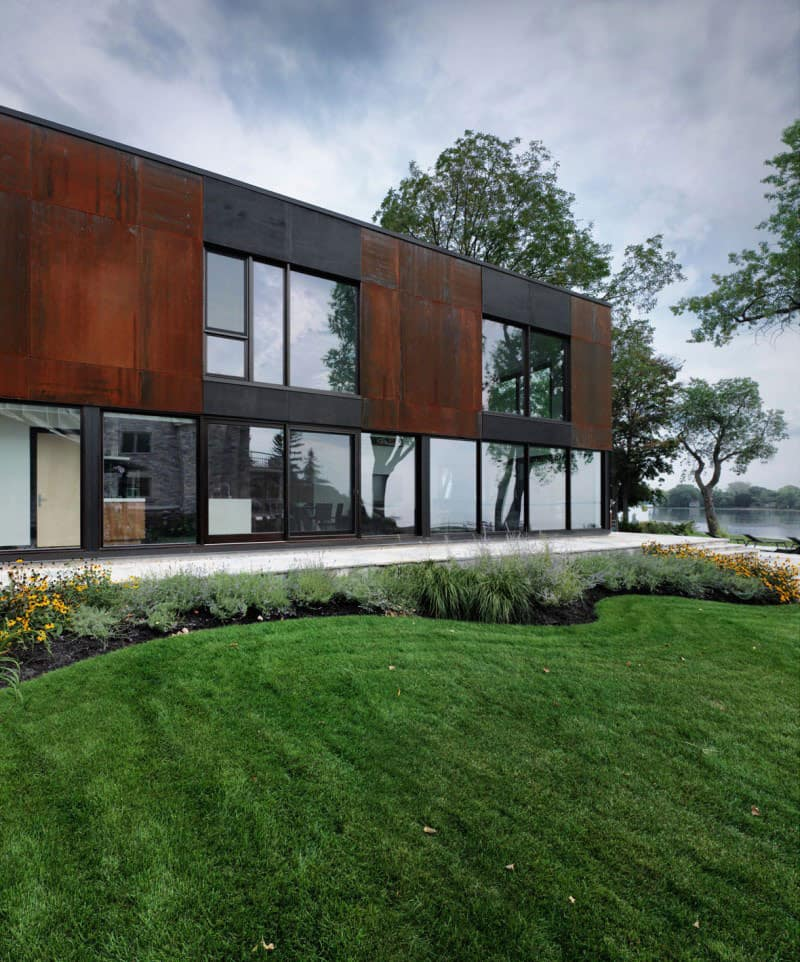 Traditional Stone Farmhouse Extended With Glass And Steel