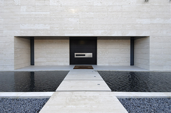 Amazing travertine house by a cero architecture firm with - A cero modular precios ...