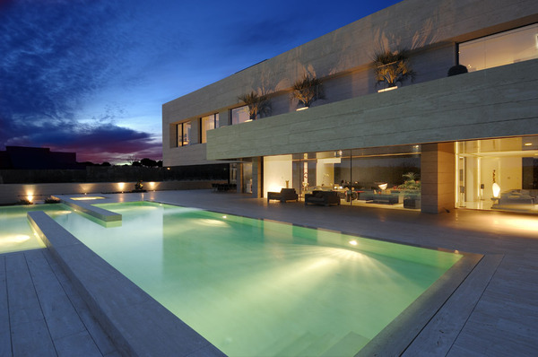 travertine house a cero 6 thumb Amazing Travertine House by A Cero Architecture Firm with water features