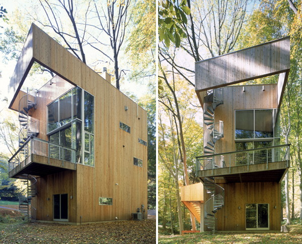 tree house 1 Tree House Design with Winding Staircase Rises to the Challenge