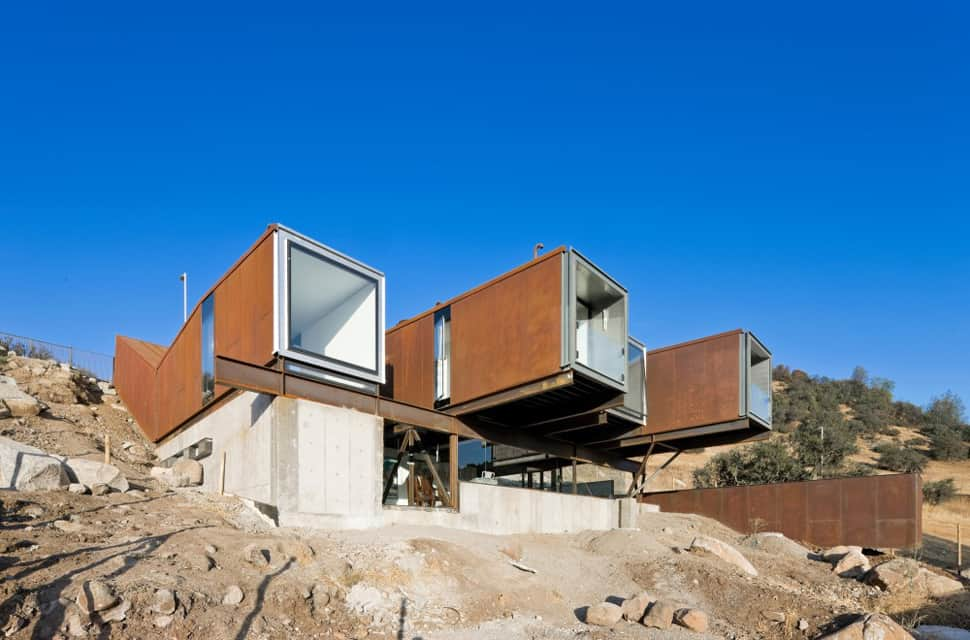 Twelve Shipping Containers Combined Into A Modern Mountain