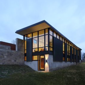 Two-Volume House on a Fieldstone Wall