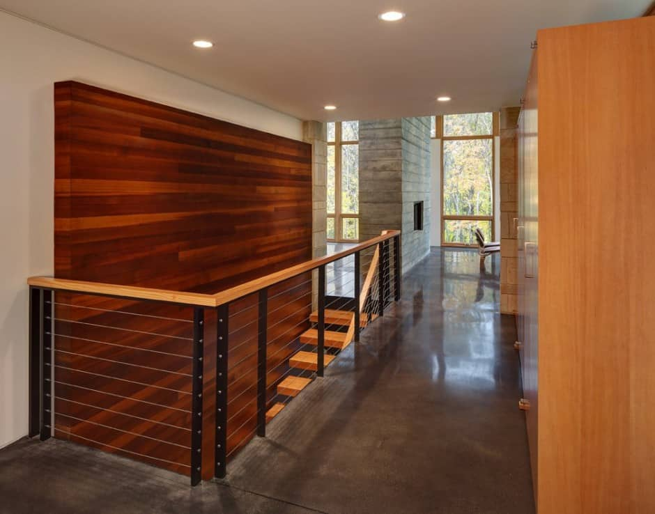 View In Gallery Two Volume House On A Fieldstone Wall 9