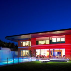 Ultramodern Orange House Takes Home Lighting to Extreme