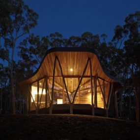 Ultramodern Reinvention Of Traditional Woodland Cabin With Timber Structure