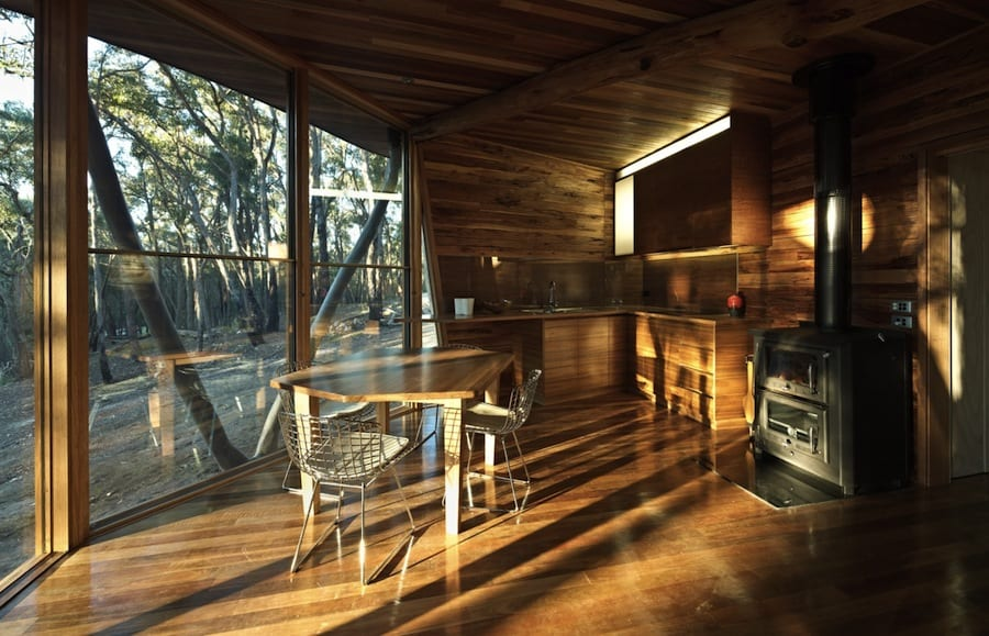 View In Gallery Ultramodern Reinvention Traditional Woodland Cabin With Timber Structure Inside