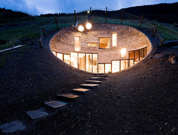 underground home designs swiss mountain house 1 Underground Home Designs   Swiss Mountain House Rocks!