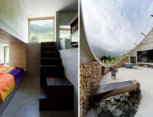 Underground Home Designs - Swiss Mountain House Rocks!