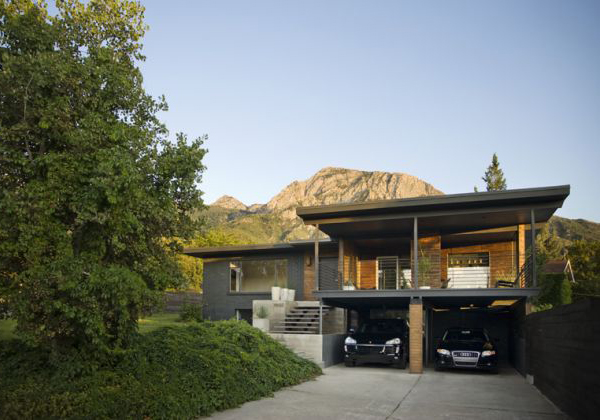 Utah modern homes for sale dark walnut makes it for Modern house auction