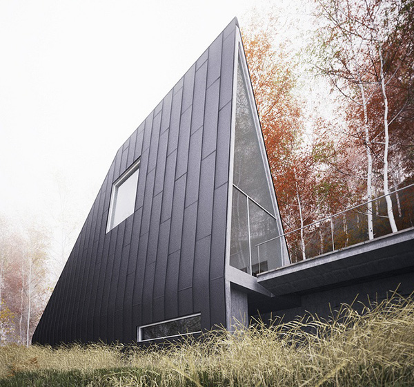 vacation house plans a frame forest house 3