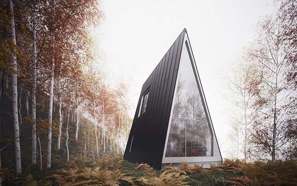 vacation house plans a frame forest house 7
