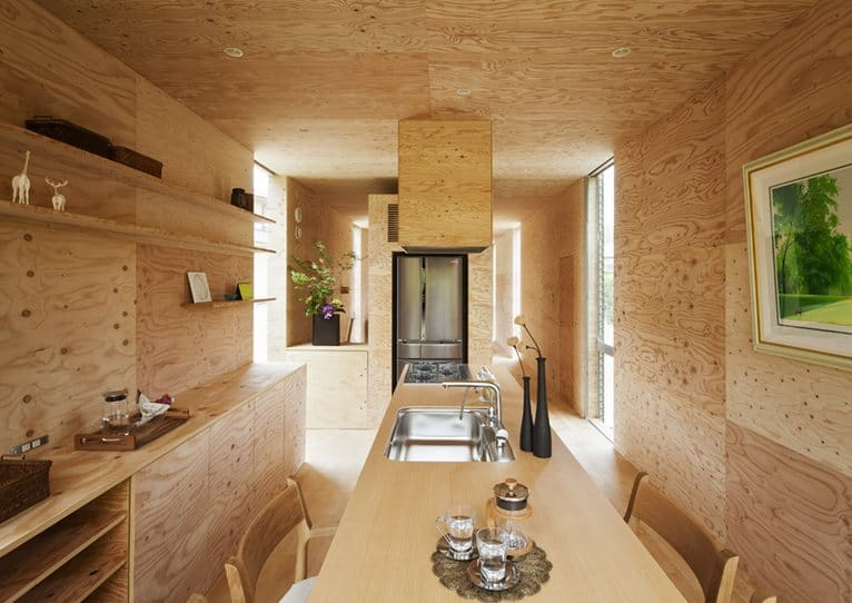 Various Wood Finishes Populate Uniquely Natural Japanese Home