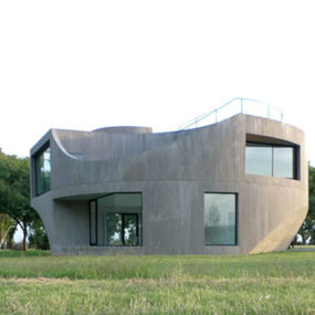 Modern Hillside Home Design by Johnston Marklee Architects