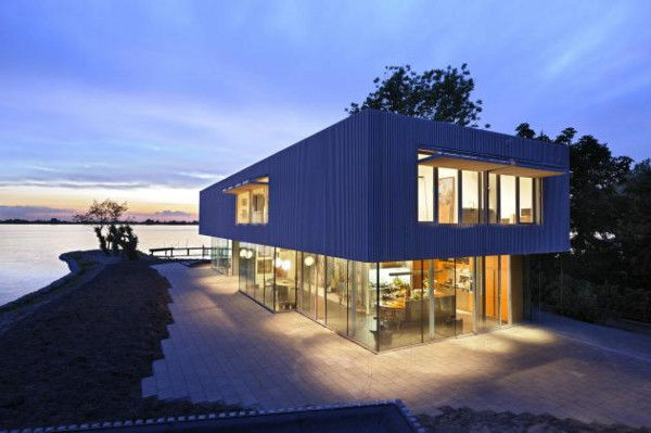 villa roling 2 Contemporary Lake House by Dutch Architect Paul de Ruiter