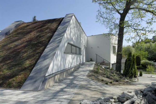 Bunker Style Houses - Eco Friendly House in Stockholm