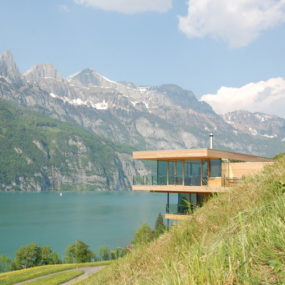 Contemporary Swiss Chalet by k_m Architektur