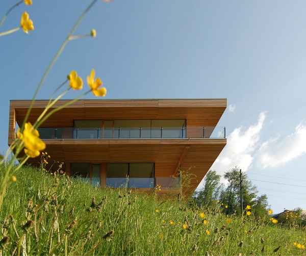 walensee house 2 Contemporary Swiss Chalet by k m Architektur