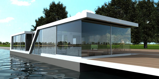 Water Homes \'Watervilla\' - modern aquatic architecture at its best