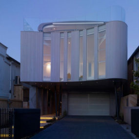 Wave Shaped House in Bondi Beach, Australia