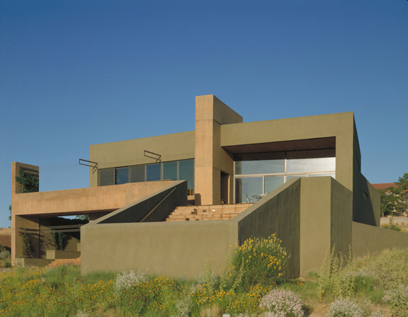 west mesa house 2 Desert House in Albuquerque by Modern Architect Antoine Predock