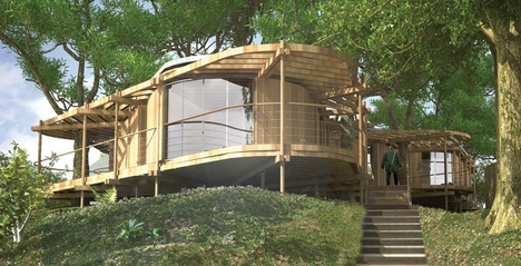 Sustainable Tree House Actually Hugs Trees