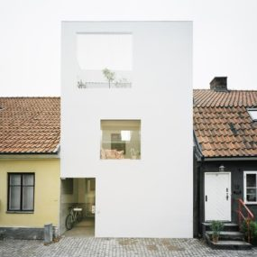 Architect Elding Oscarson Adds a Vibrant White Townhouse to a Sleepy Swedish Street