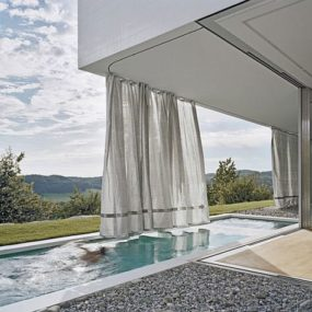 Cubic House Design – Curtain House in South Germany