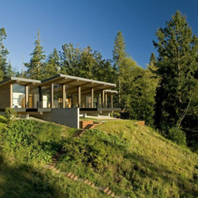 Wood and glass cabin home brings luxury to nature